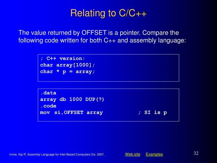Relating to C/C++