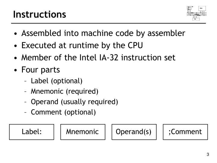 Ppt Intel X86 Assembly Fundamentals Powerpoint Presentation Id
