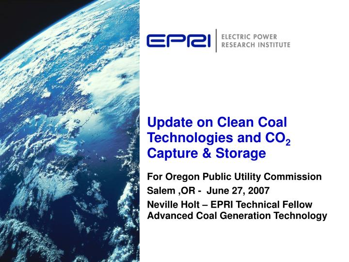 update on clean coal technologies and co 2 capture storage n.