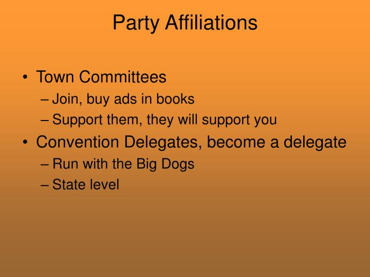 Party Affiliations