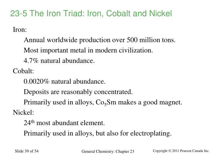 23-5 The Iron Triad: Iron, Cobalt and Nickel