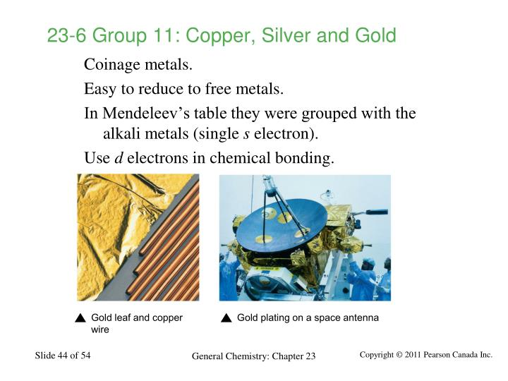 23-6 Group 11: Copper, Silver and Gold