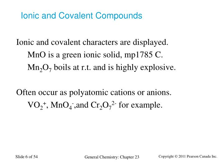Ionic and Covalent Compounds