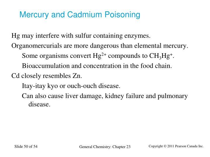 Mercury and Cadmium Poisoning