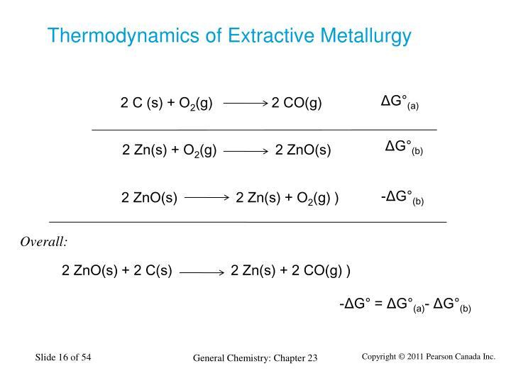 Thermodynamics of Extractive Metallurgy
