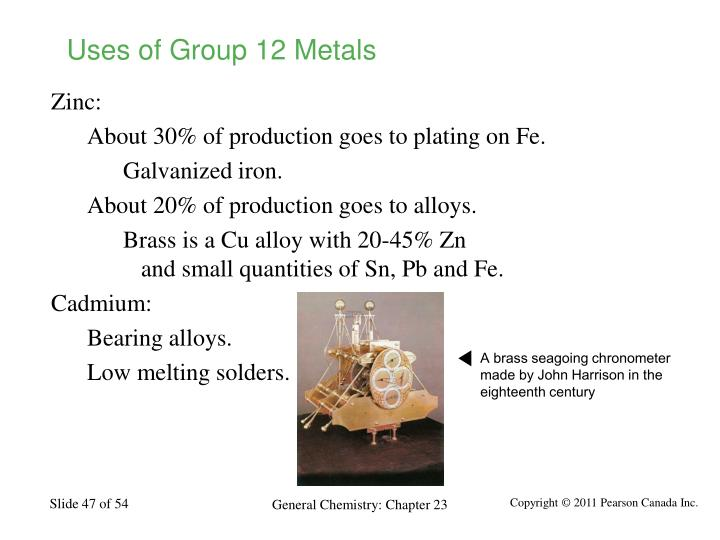Uses of Group 12 Metals