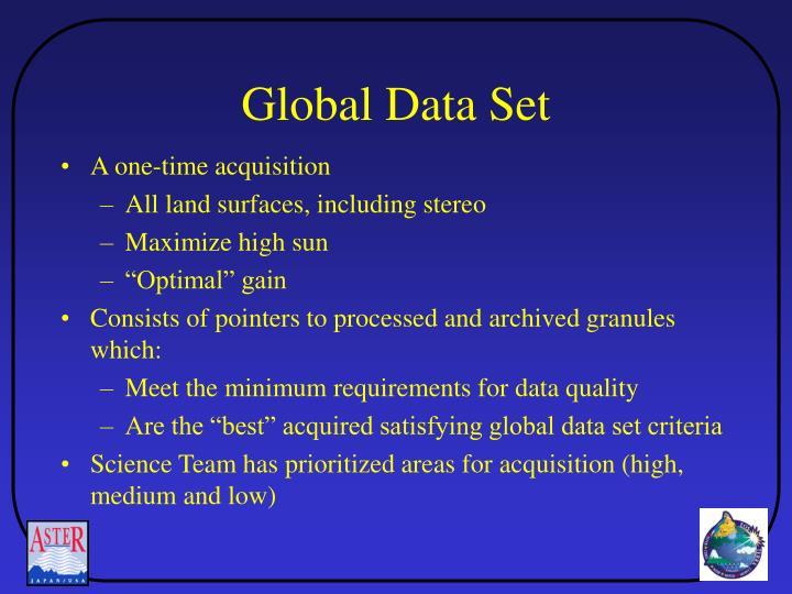 Global Data Set