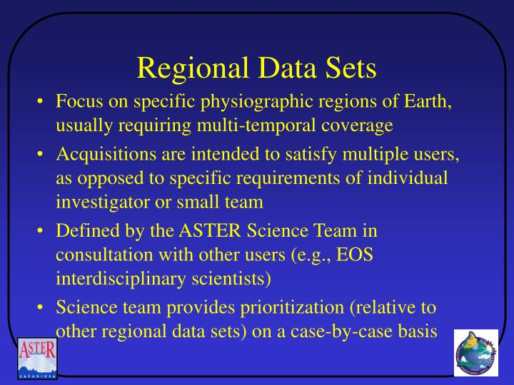 Regional Data Sets
