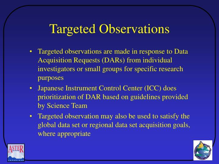 Targeted Observations