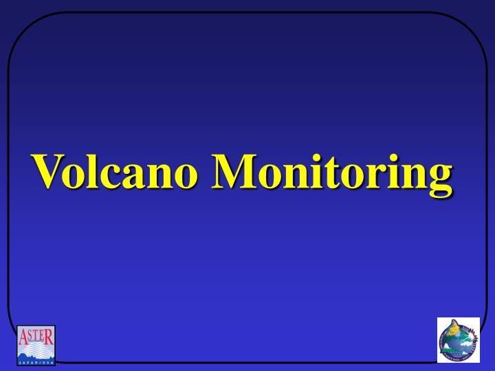 Volcano Monitoring