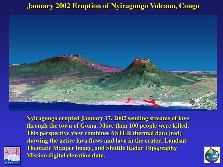 January 2002 Eruption of Nyiragongo Volcano, Congo
