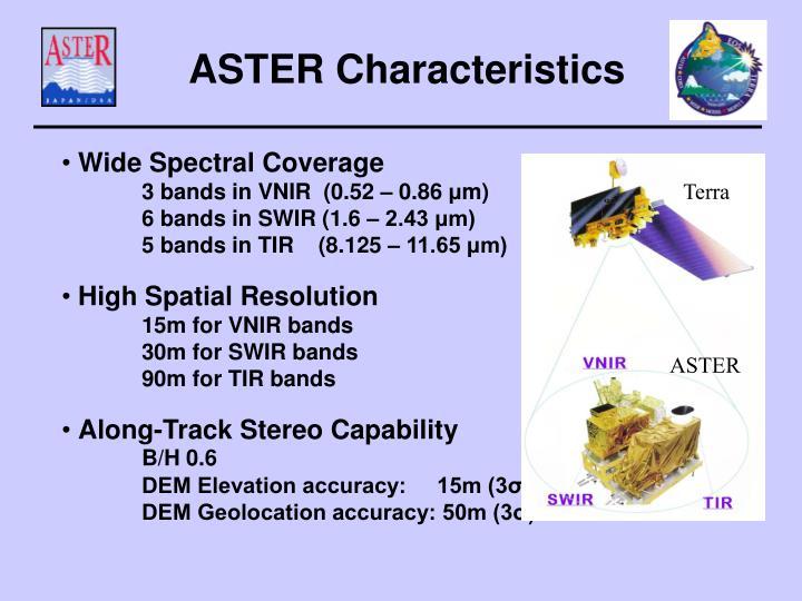 ASTER Characteristics