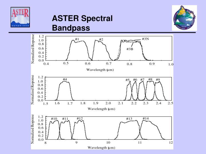 ASTER Spectral Bandpass