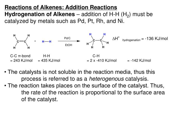PPT - Reactions of Alkenes: Addition Reactions PowerPoint