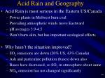 acid rain and geography