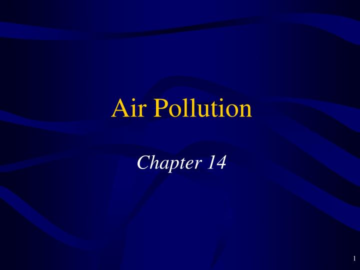 air pollution chapter 14