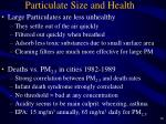particulate size and health