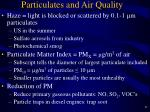 particulates and air quality