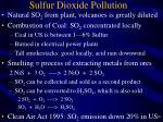 sulfur dioxide pollution