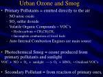 urban ozone and smog