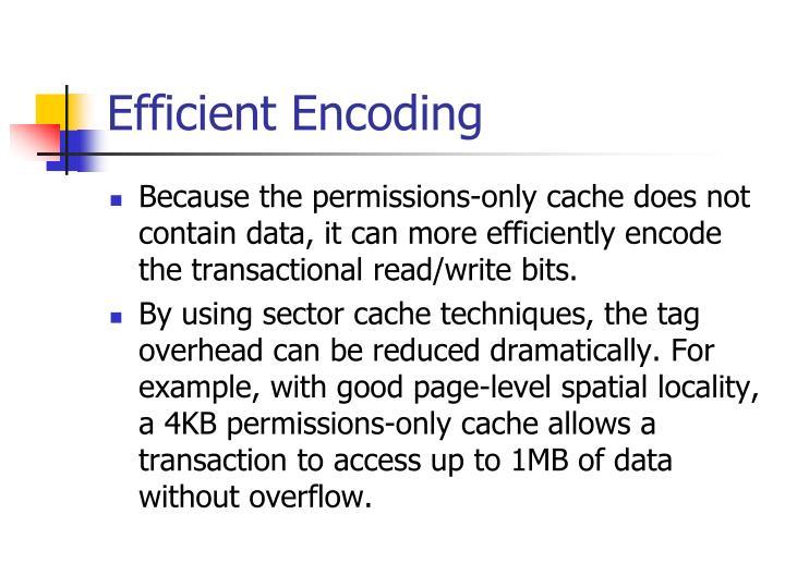 Efficient Encoding