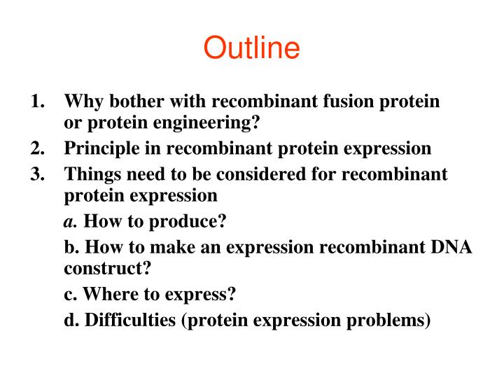 PPT - Protein engineering and recombinant protein expression PowerPoint Presentation - ID:4752981