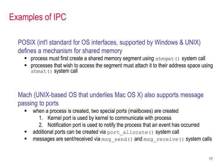 Examples of IPC