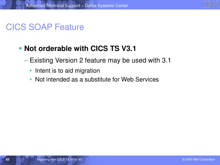 CICS SOAP Feature
