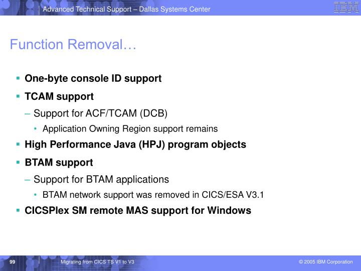Function Removal…