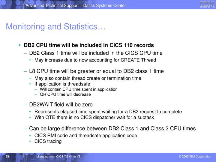 Monitoring and Statistics…