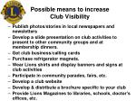 possible means to increase club visibility
