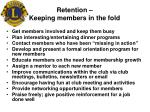 retention keeping members in the fold