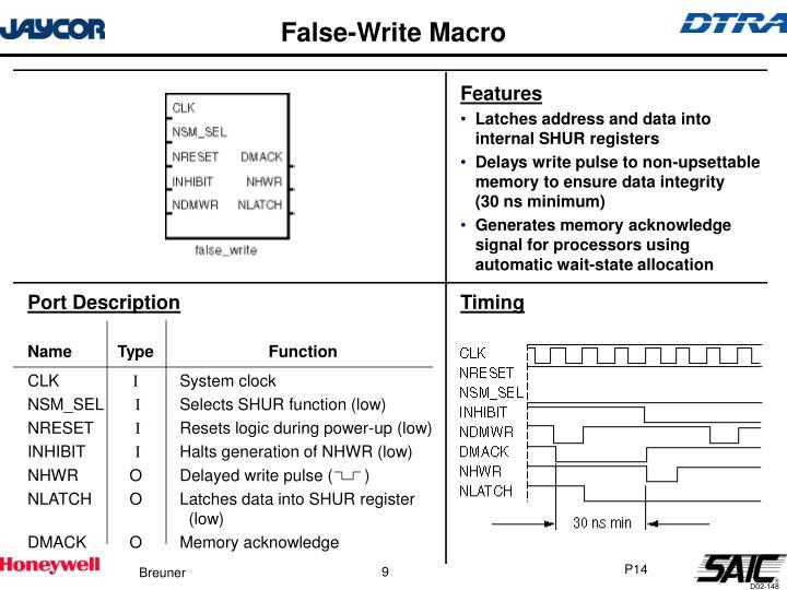 False-Write Macro