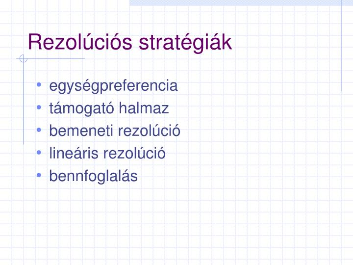 Rezolúciós stratégiák