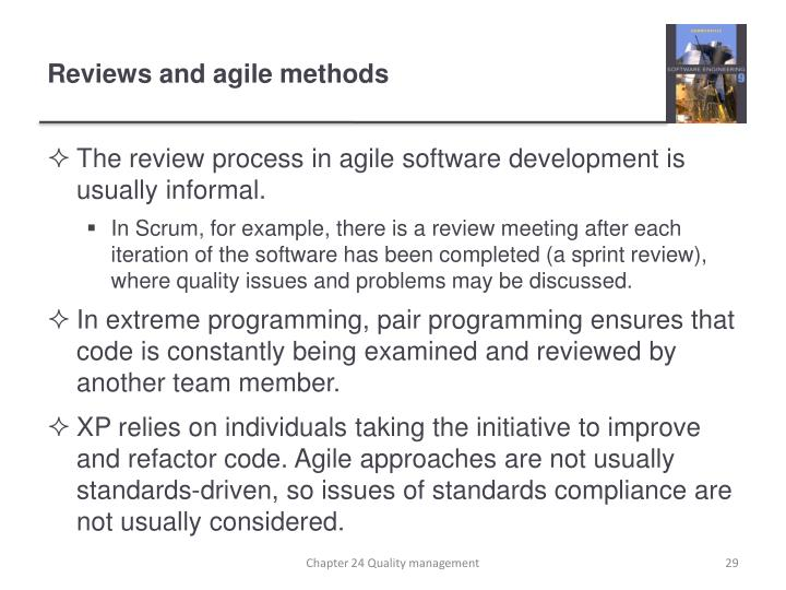 Reviews and agile methods