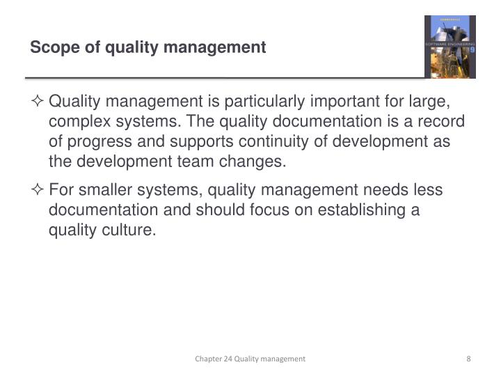 Scope of quality management