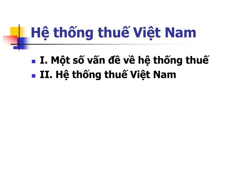 Hệ thống thuế Việt Nam