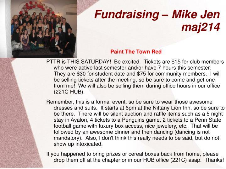 Fundraising – Mike Jen