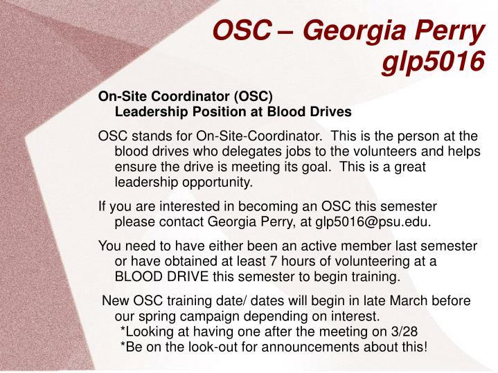 OSC – Georgia Perry
