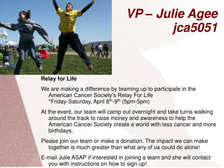 VP – Julie Agee