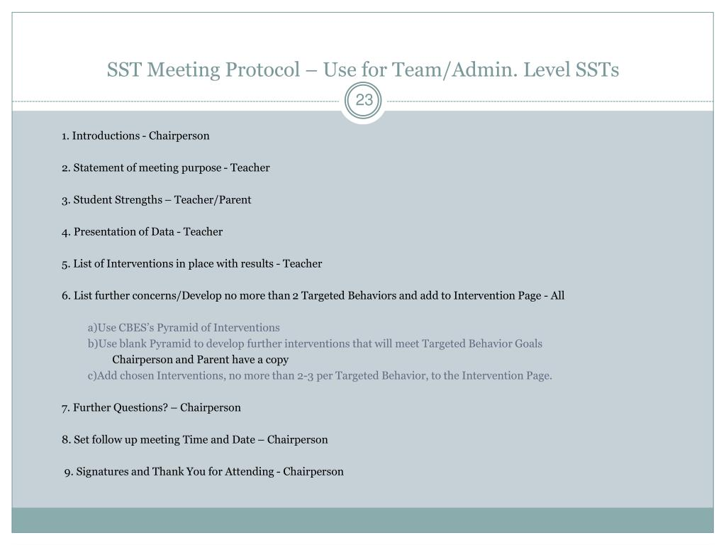 PPT - The SST Process Rationale, Procedures and Paperwork