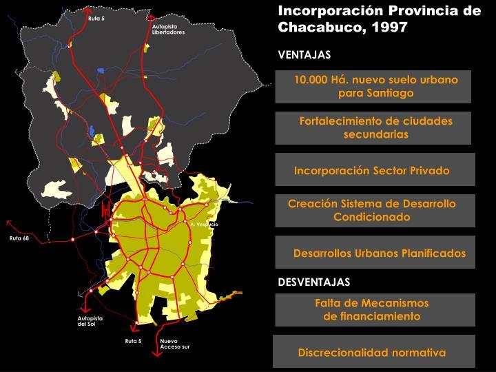 Incorporación Provincia de Chacabuco, 1997