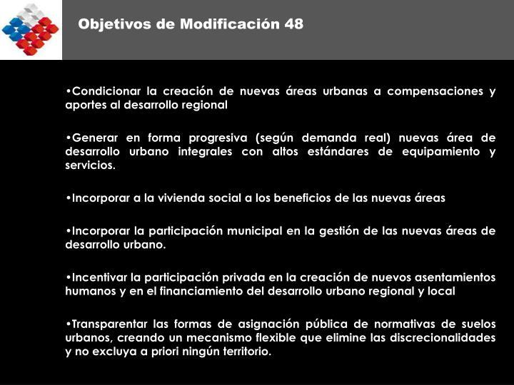 Objetivos de Modificación 48