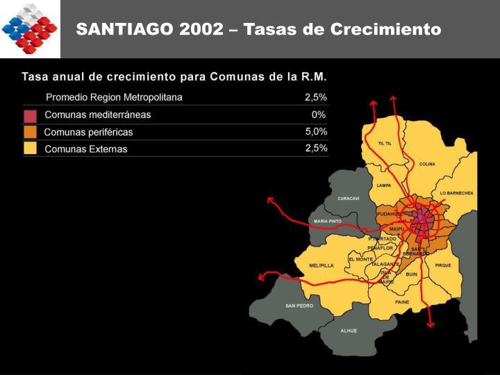 SANTIAGO 2002 – Tasas de Crecimiento
