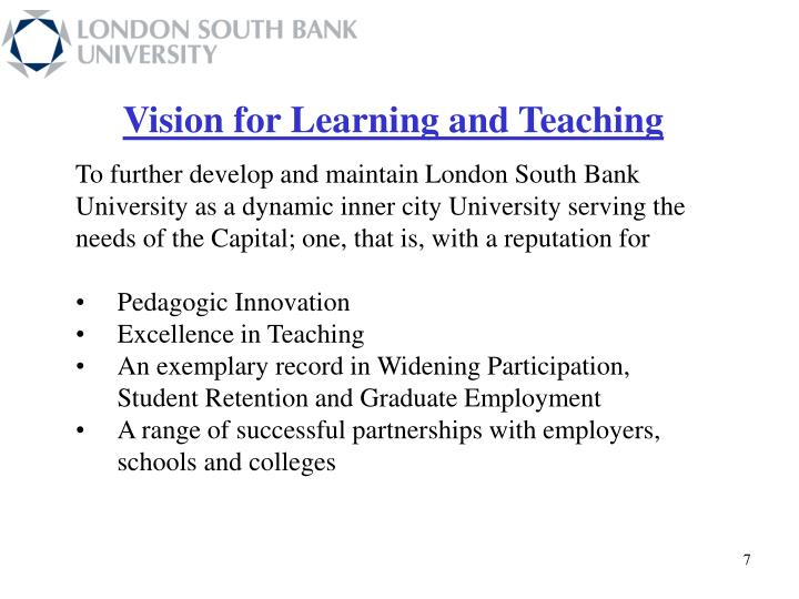 Vision for Learning and Teaching