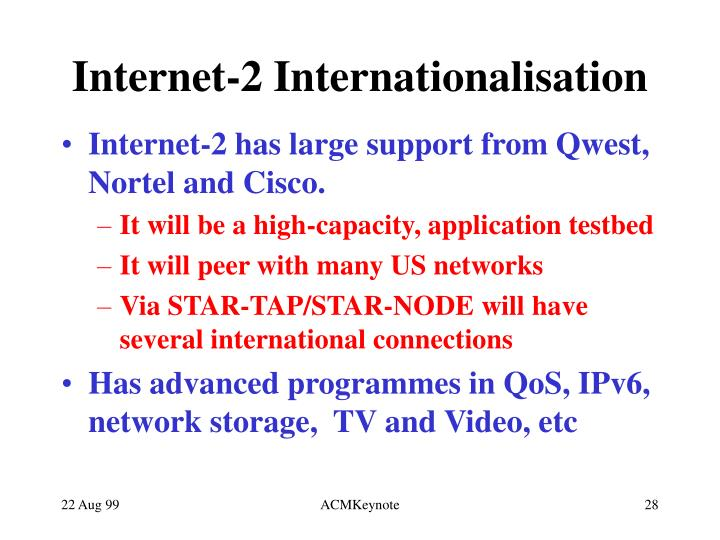 Internet-2 Internationalisation