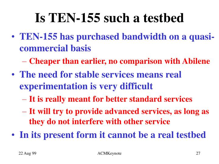 Is TEN-155 such a testbed