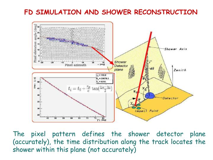 FD SIMULATION AND SHOWER RECONSTRUCTION