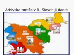 arhivska mre a v r sloveniji danes