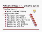 arhivska mre a v r sloveniji danes1